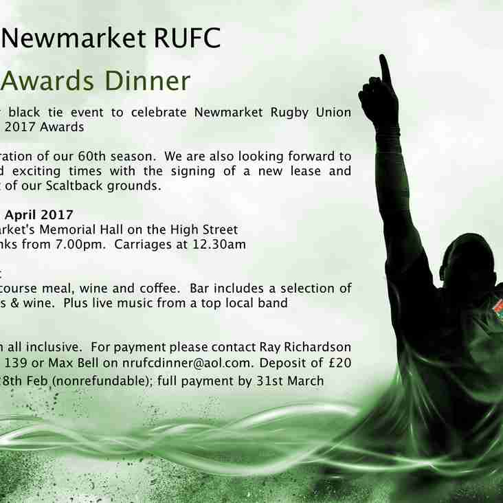 End of Season Dinner and Awards Evening at Newmarket Memorial Hall