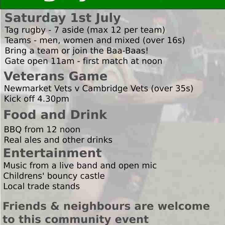 Newmarket Rugby Festival - 1st July