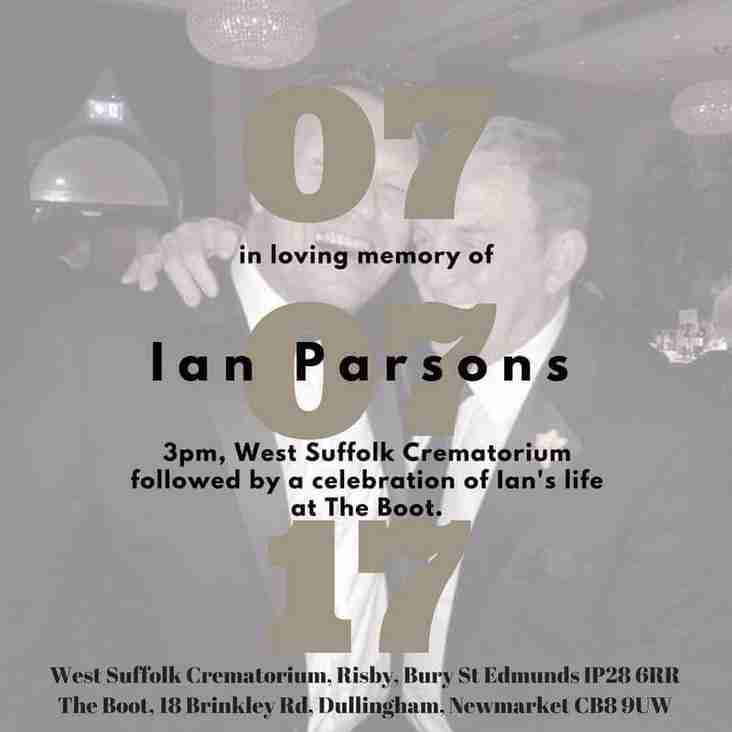 Details of Ian Parsons' Funeral
