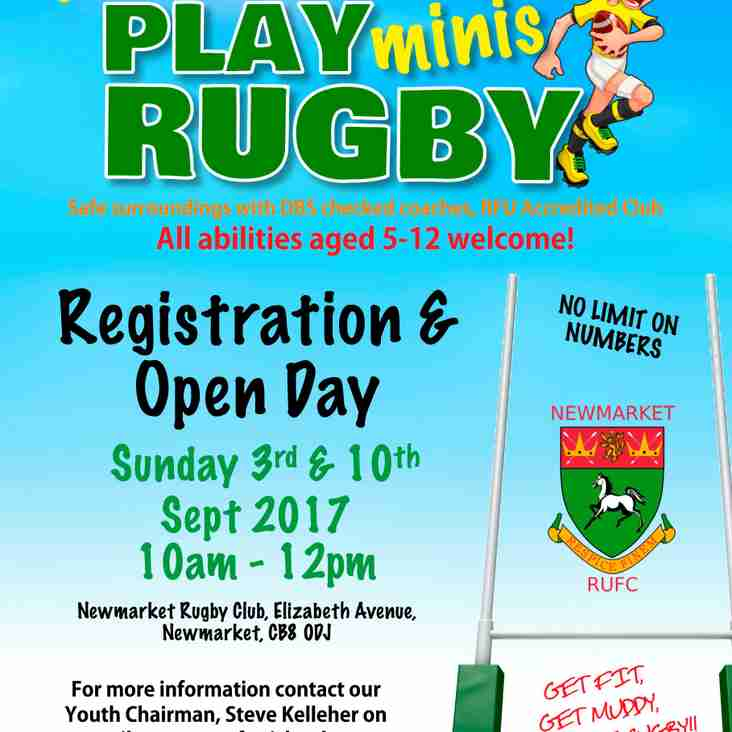 Minis Rugby at Newmarket
