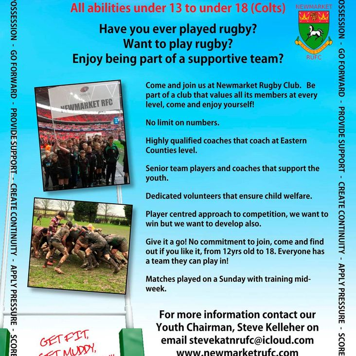 Youth Rugby at Newmarket<