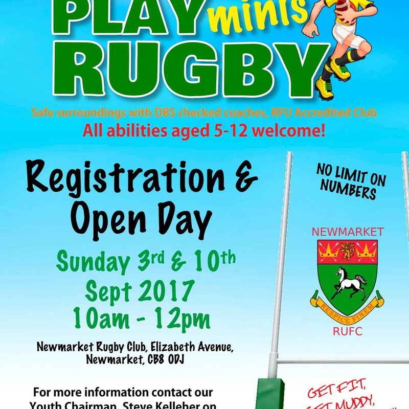 Minis Rugby at Newmarket - missed last Sunday?  Come along this Sunday and join the fun.
