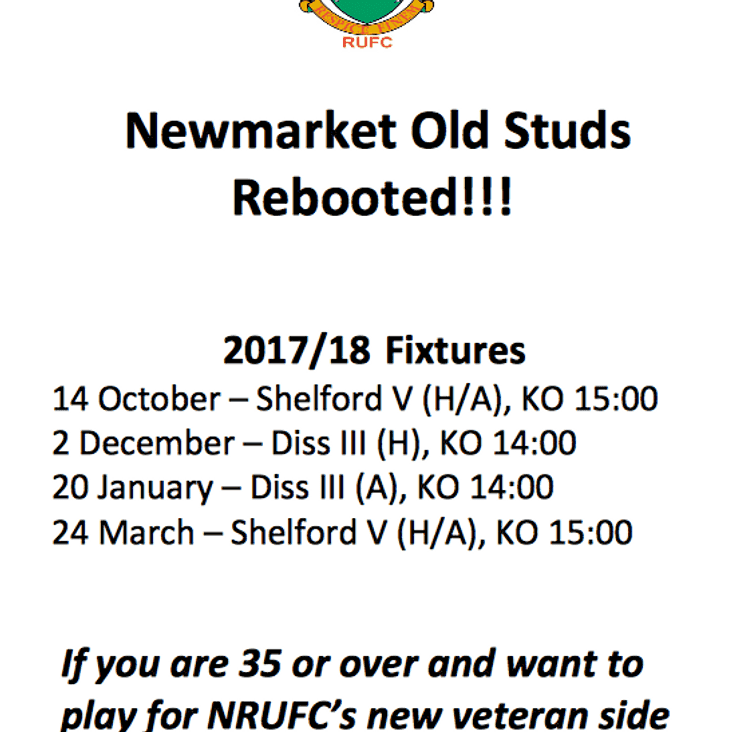 Newmarket Old Studs Rebooted