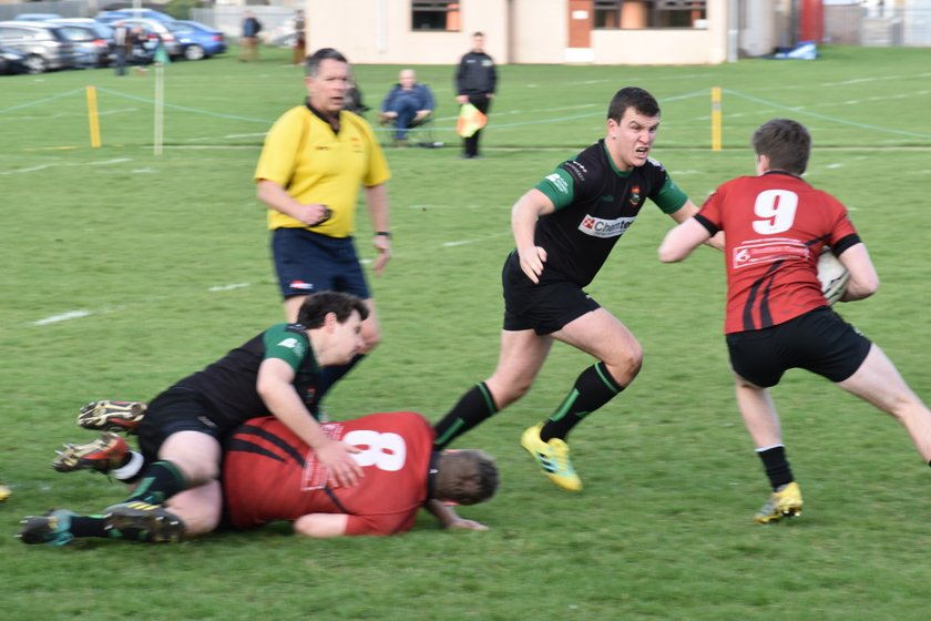 Newmarket 1st XV at home to Colchester III