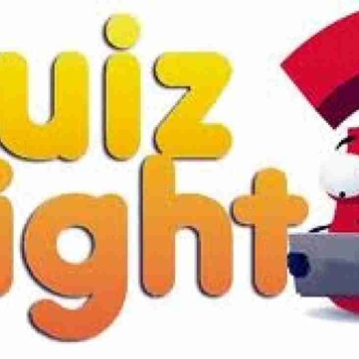 Quiz Night- Friday 12th October