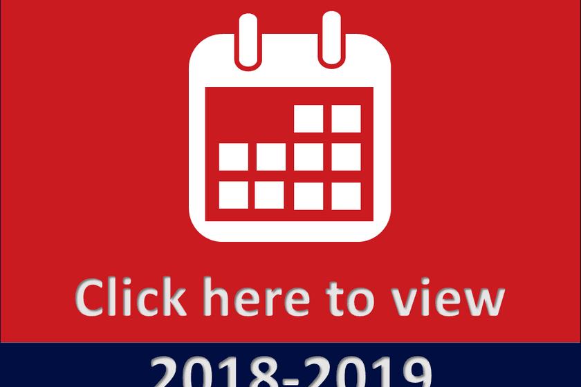 2018 - 19 Season Key Dates