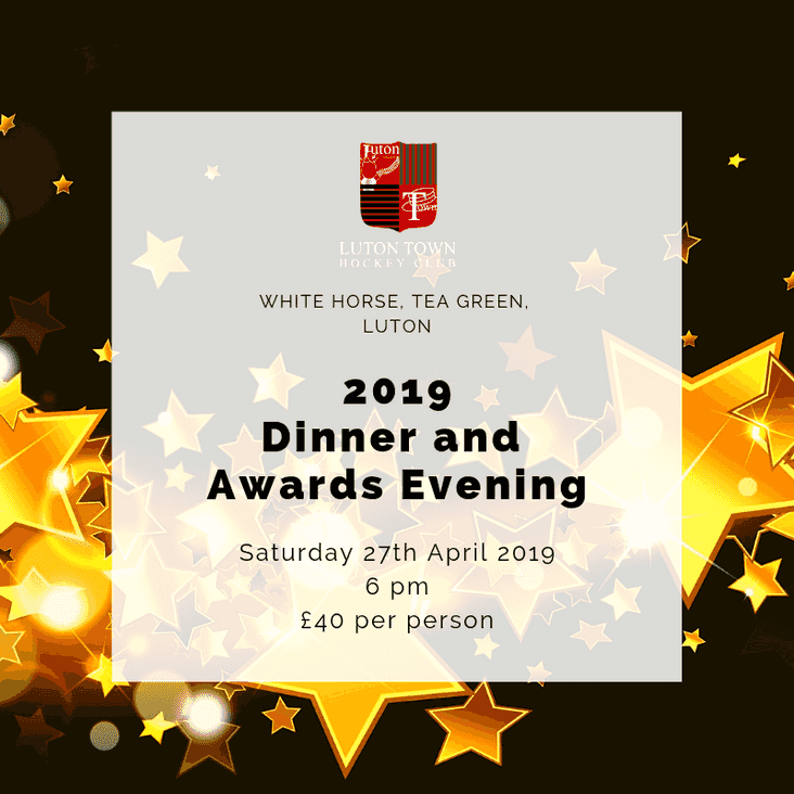 2019 Presentation Evening - Tickets Available now!