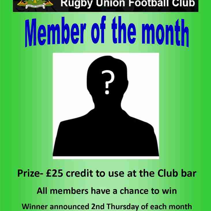 Abingdon Rugby Club Member of the Month