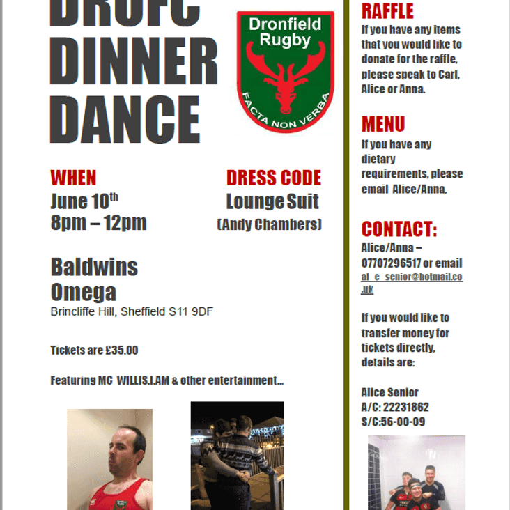 DRUFC Dinner & Dance, June 10th