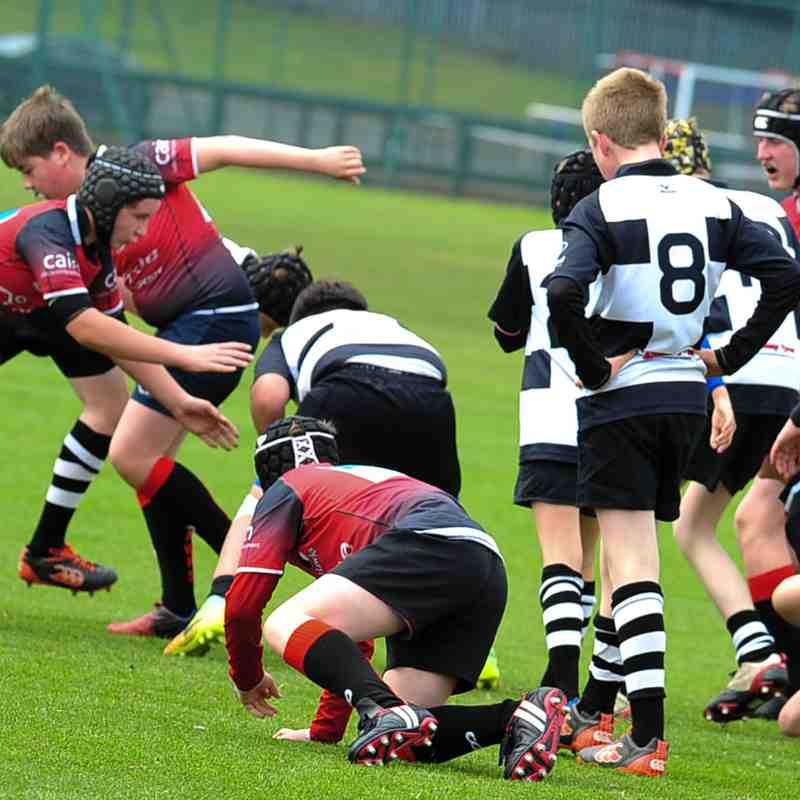 Perthshire U13 beat Glasgow Hawks 14-4 (30/4/17) Pics by Louise