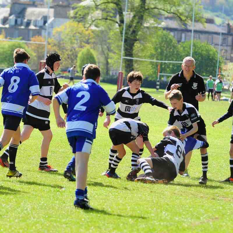 Perthshire U/13 beat Dunfermline 57-10 (5/5/17)  Pics by Louise