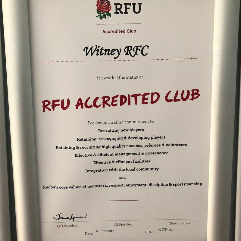RFU   Re accreditation
