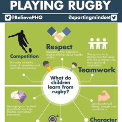 What do children gain by playing rugby