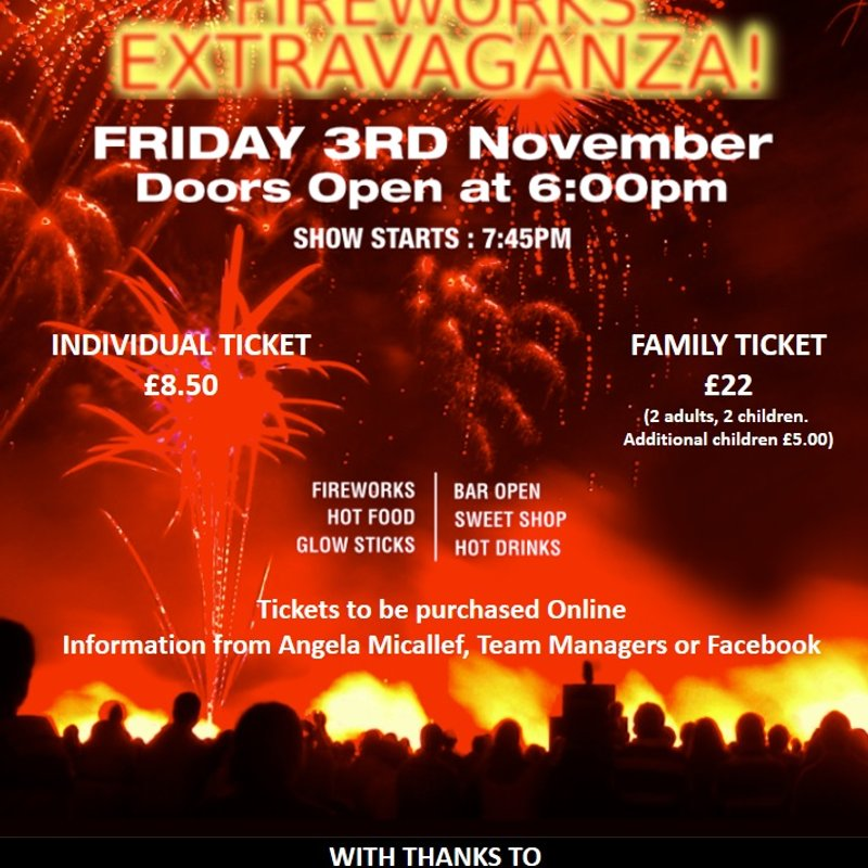 FIREWORKS NIGHT AT OG's | 3rd NOVEMBER