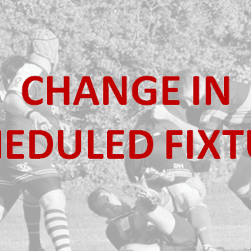 Saturday 17th November | Change in Fixture & Timings
