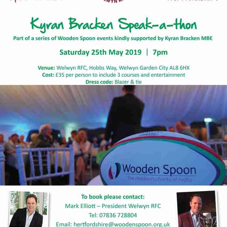 Charity Partner Hosts an Evening with Kyran Bracken