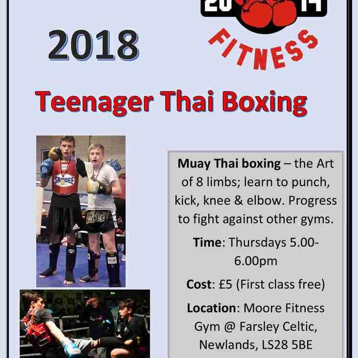 Teenage Thai Boxing at Throstle Nest