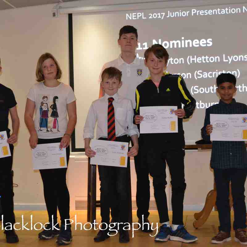 North East Premier League Junior Presentation 2017