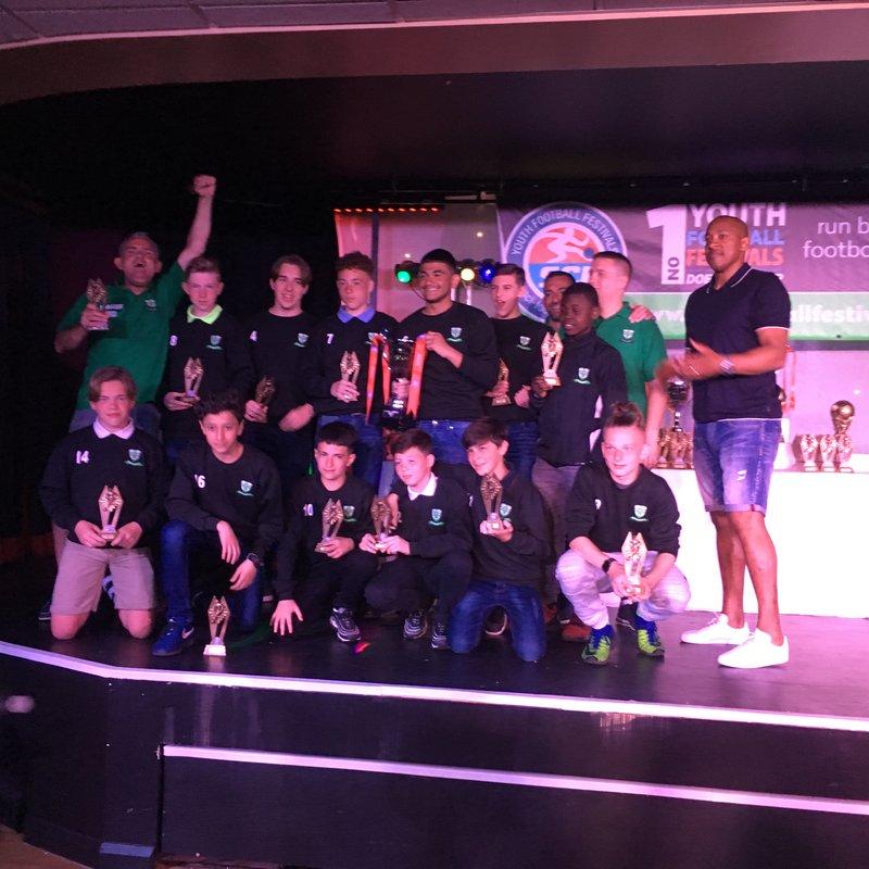 WAFC U13s WIN  SCI Grt Yarmouth tournament 5th - 7th May2018
