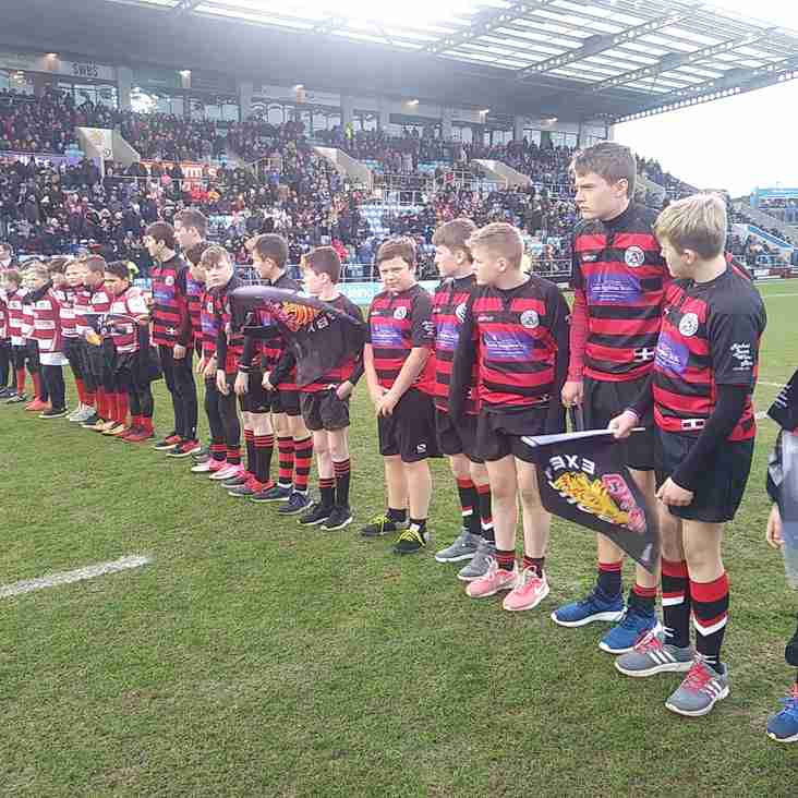 U13s Have Memorable Day At Sandy Park