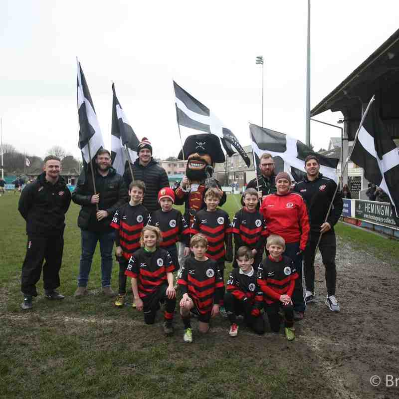 Penryn U8s at Cornish Pirates - 4th March 2018 by Brian Tempest