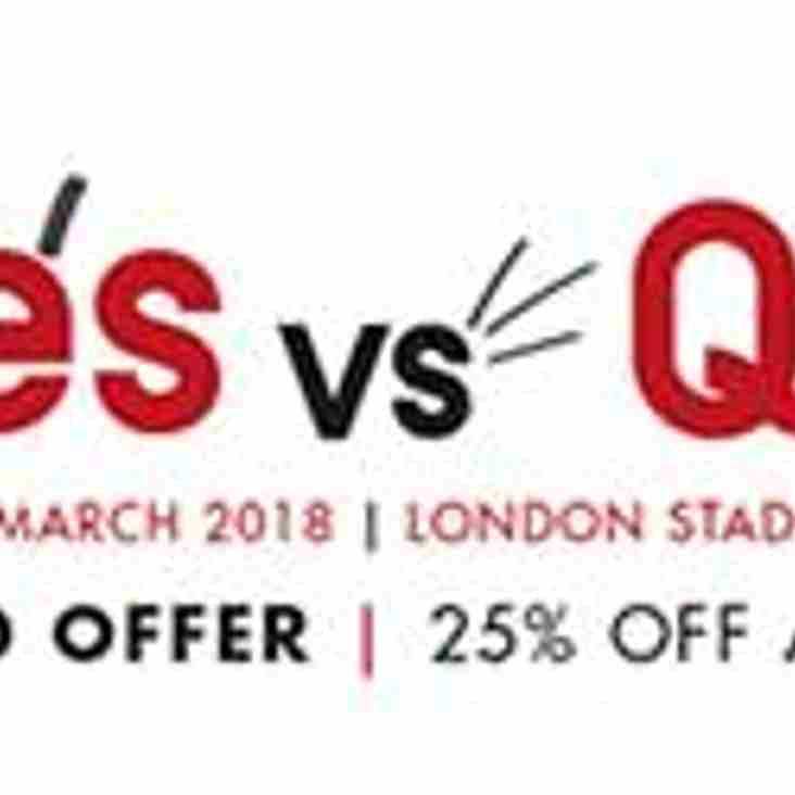 SARRIES v QUINS, SATURDAY 24 MARCH 2018