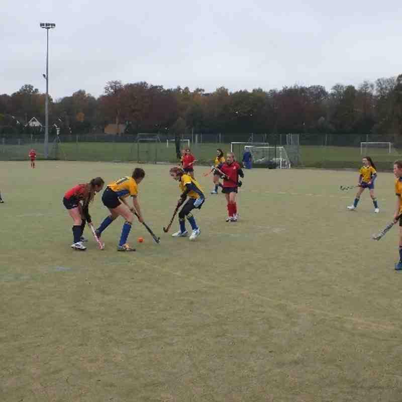 U14 girls in action 17.11.13