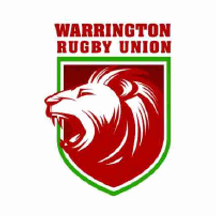 Warrington RUFC AGM - Monday 14th May 2018, 8:30pm