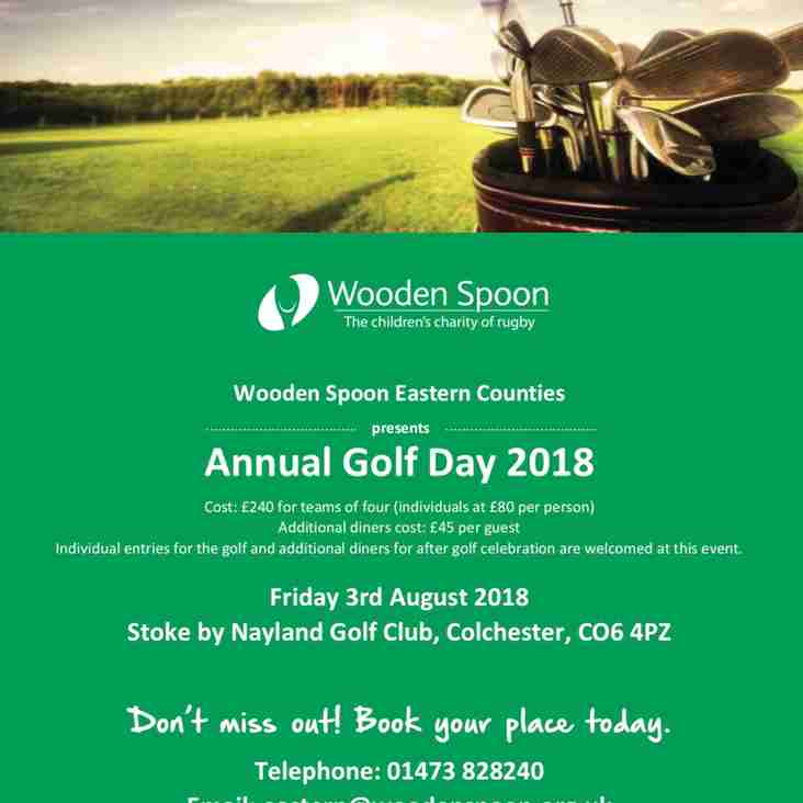 NEW - Wooden Spoon annual golf day - 3rd August 2018 - Auction news