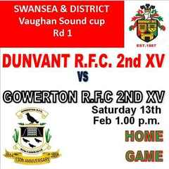 DUNVANT DEVELOPMENT HOST GOWERTON IN CUP (Feb 13th)