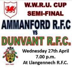 Ammanford pip plucky Dunvant in Cup Semi Final (27th Apr)
