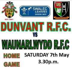 LAST HOME GAME v WAUN ARRANGED FOR MAY 7th