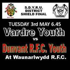 DUNVANT YOUTH SHIELD FINAL v  VARDRE AT WAUN (3rd May)