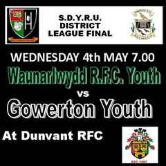 DUNVANT RFC HOST SD YOUTH LEAGUE FINAL (4th May)