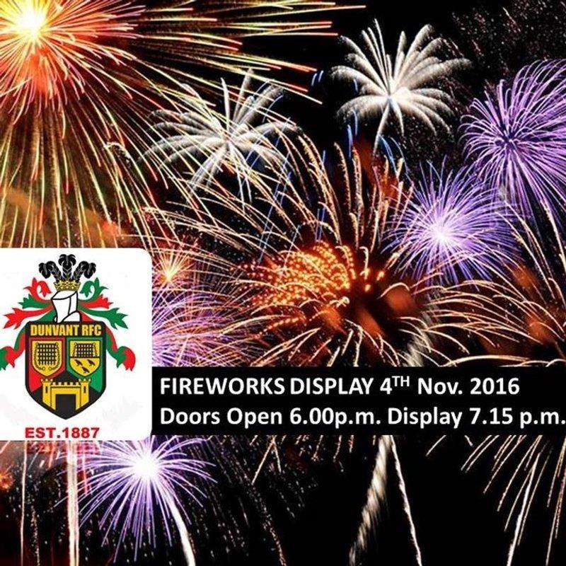 DUNVANT RFC FIREWORKS DISPLAY (Nov4th)