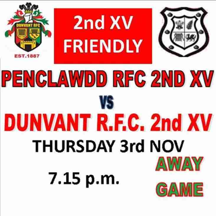 TWO NEW FRIENDLIES THIS MONTH FOR 2ndXV