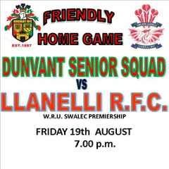 THREE GAMES AT DUNVANT RFC THIS WEEKEND