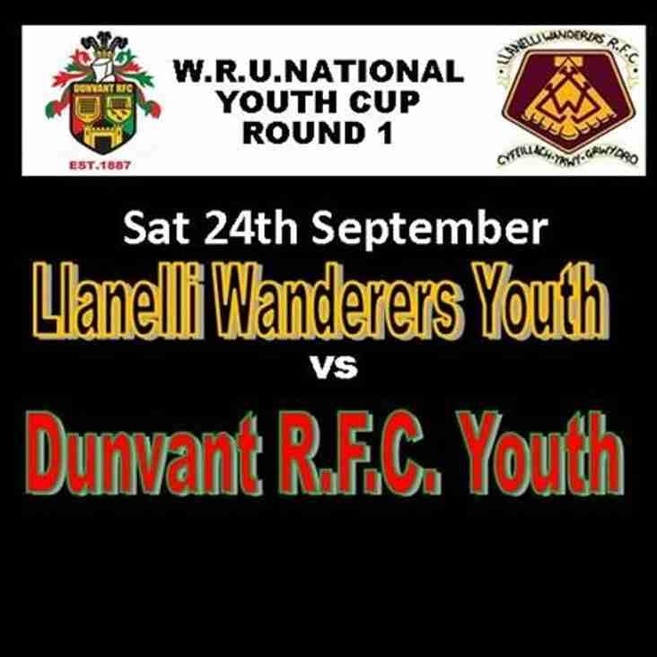 NATIONAL WRU YOUTH CUP DRAW ANNOUNCED (24th Sep)