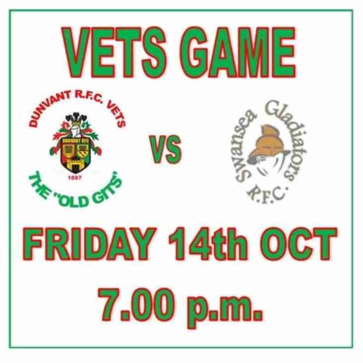 OUR VETS ARE DUSTING OFF THEIR BOOTS (Oct 14th)