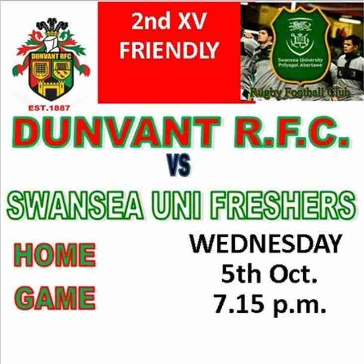 DUNVANT 2nds vs SWANSEA UNI FRESHERS (Oct 5th)