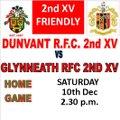 Dunvant RFC 2nd XV vs. Glynneath 2nd XV