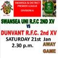 Swansea University 2nd XV vs. Dunvant 2nd XV