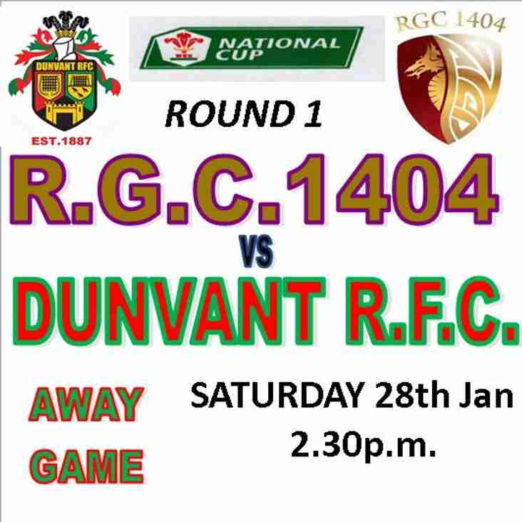 DUNVANT TRAVEL NORTH TO PLAY THE GOGS (28thJan)