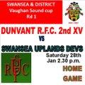 Dunvant RFC 2nd XV vs. Swansea Uplands Devs