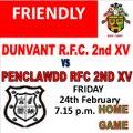 Dunvant RFC 2nd XV vs. Penclawdd RFC 2nd XV