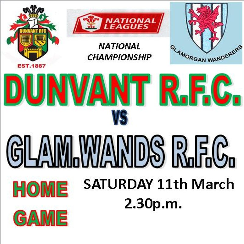 WANDERERS DENY DUNVANT TO TAKE THE SPOILS(11th Mar)