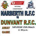 OTTERS TRY FEST SEES DUNVANT RELEGATED (25th Mar)