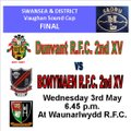 SD Vaughan Sound Cup Final vs. Dunvant 2nd XV v Bonymaen 2nd XV at Waun RFC