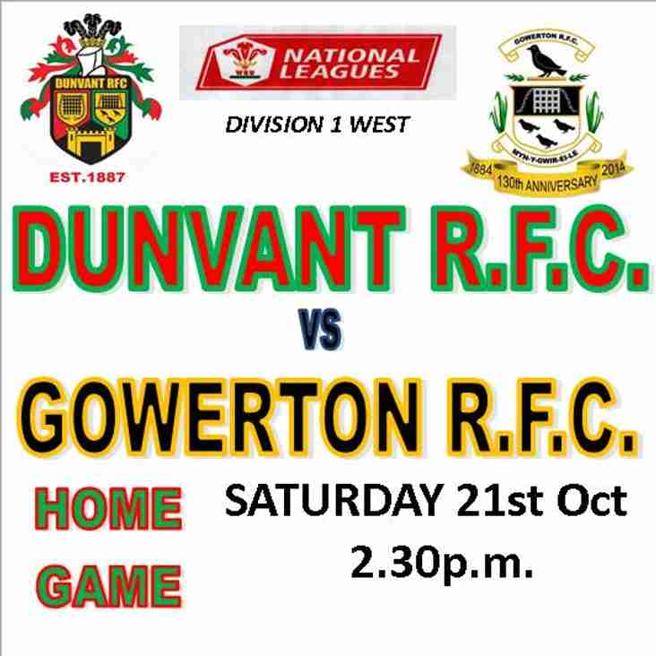 DUNVANT HOST THE STARCH THIS SATURDAY (Oct 21st)