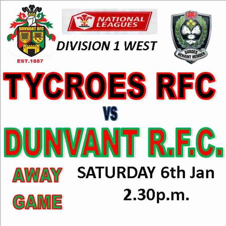 DUNVANT STAY TOP BUT GOWERTON GO 2nd AS GAMES POSTPONED (6th Jan)
